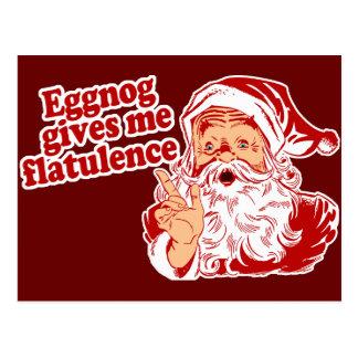 Eggnog Gives Santa Flatulence Post Card