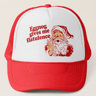 Eggnog Gives Santa Flatulence Trucker Hat