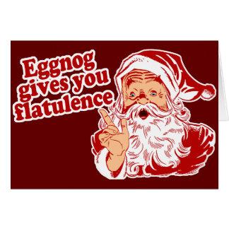 Eggnog Gives You Flatulence Card
