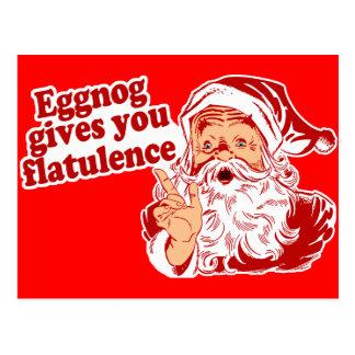Eggnog Gives You Flatulence Postcard