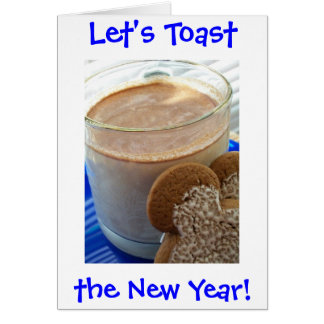 Eggnog, Let's Toast, the New Year! Cards