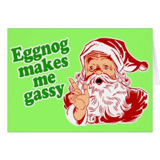 Eggnog Makes Santa Fart Cards