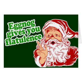 Eggnog Makes Santa Fart Greeting Card