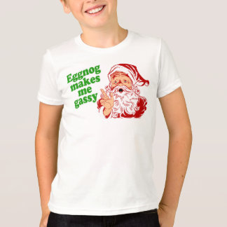 Eggnog Makes Santa Fart T-Shirt