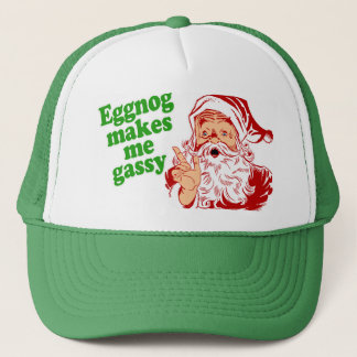 Eggnog Makes Santa Fart Trucker Hat