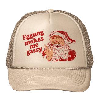 Eggnog Makes Santa Flatulent Hat