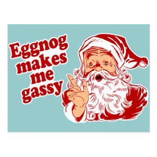 Eggnog Makes Santa Flatulent Post Cards