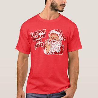 Eggnog Makes Santa Flatulent T-Shirt