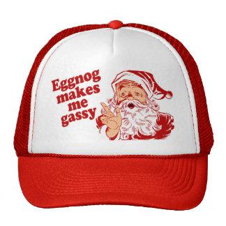 Eggnog Makes Santa Gassy Hat