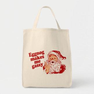 Eggnog Makes Santa Gassy Tote Bag