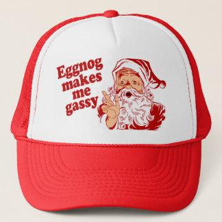 Eggnog Makes Santa Gassy Trucker Hat