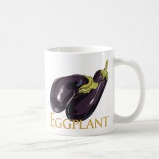 Eggplant Aubergine Basic White Mug