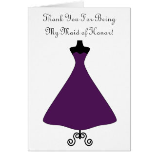 Eggplant Colored Maid of Honor/Bridesmaid Card