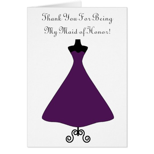 Eggplant Coloured Maid of Honour/Bridesmaid Card