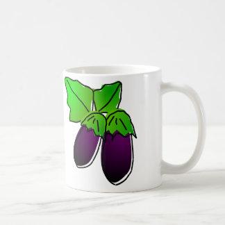 Eggplant Cup Basic White Mug