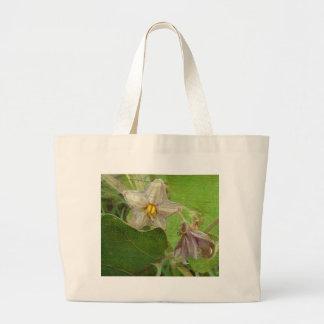Eggplant Flowers Jumbo Tote Bag
