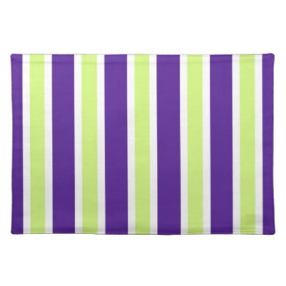 Eggplant & Honeydew Stripes Placemat