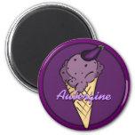 Eggplant Ice Cream Magnet