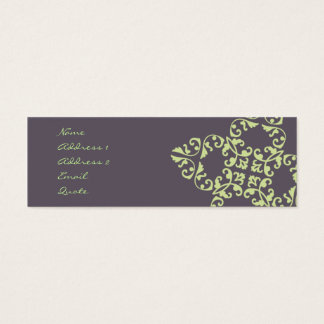 Eggplant Pattern Mini Business Card