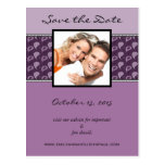 Eggplant Plum Paisley Save The Date Your Photo