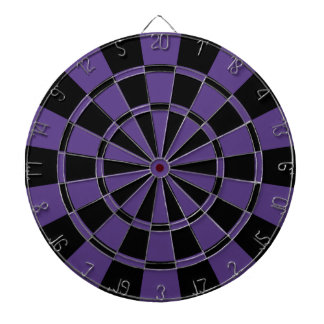 Eggplant Purple And Black Dartboard