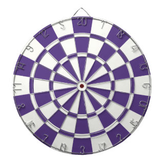 Eggplant Purple And White Dartboard