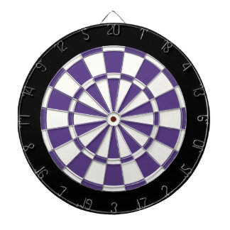 Eggplant Purple Black And White Dartboards