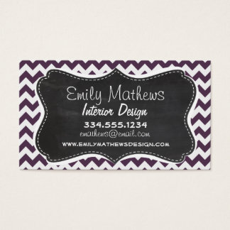Eggplant Purple Chevron; Retro Chalkboard