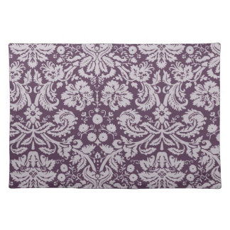 Eggplant Purple Damask Placemat