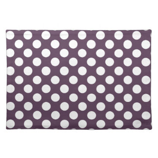 Eggplant Purple Polka Dots Placemats