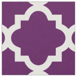 Eggplant Purple Quatrefoil Pattern | Fabric