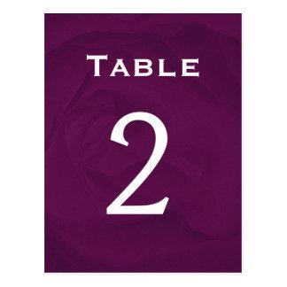 Eggplant Rose Table Number Part of Set of 12 Postcard