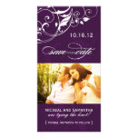 Eggplant Save the Date Photo Cards