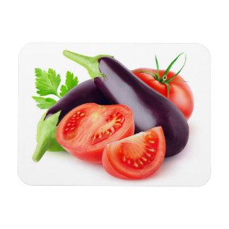 Eggplants and tomatoes magnet