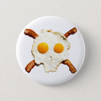 Eggs and Bacon with a side of Skull 6 Cm Round Badge