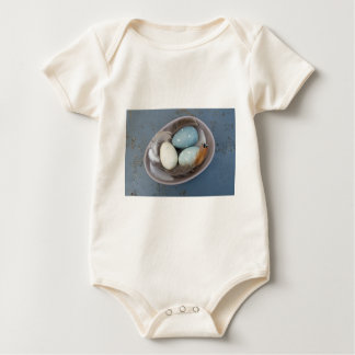 Eggs and feathers baby bodysuit