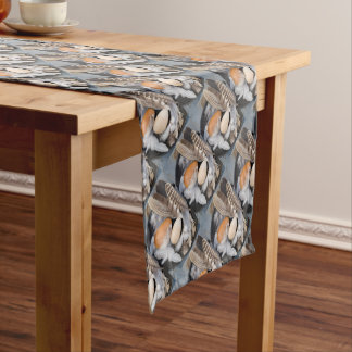 Eggs & feathers short table runner