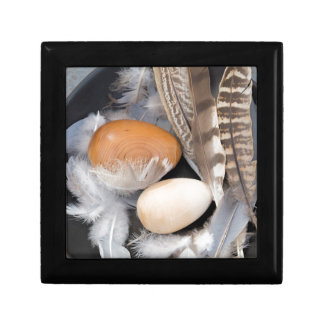 Eggs & feathers small square gift box