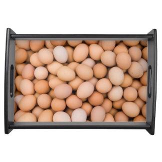 Eggs, Huaraz, Cordillera Blanca, Ancash, Peru Serving Tray