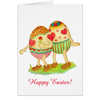 Eggs in love easter card