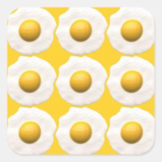 Eggs Over Easy Square Sticker