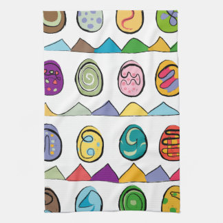 Eggs tea towel