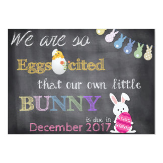 Eggscited Easter Pregnancy Reveal Announcement
