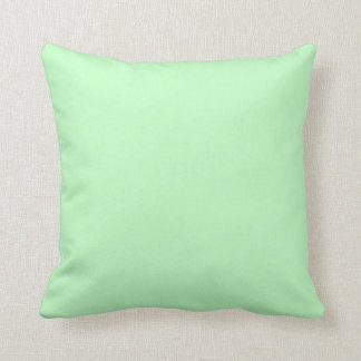 Eggshell Blue Green Pastel Color Background Throw Pillow