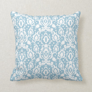 Eggshell Blue Moroccan Damask Cushion