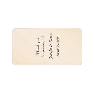 Eggshell Elegance Wedding Lip Balm Label Address Label