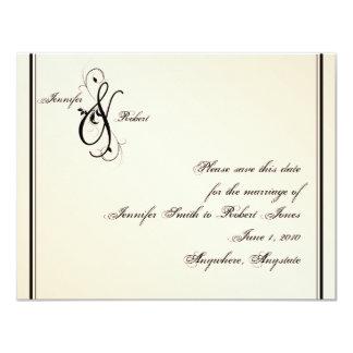 Eggshell Elegance Wedding Save the Date Card