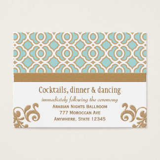 Eggshell Gold Moroccan Reception Enclosure Cards