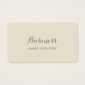 Eggshell Minimalist Trendy Elegant Calligraphic Business Card