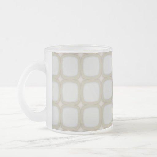 Eggshell Retro Squares Stars Mug